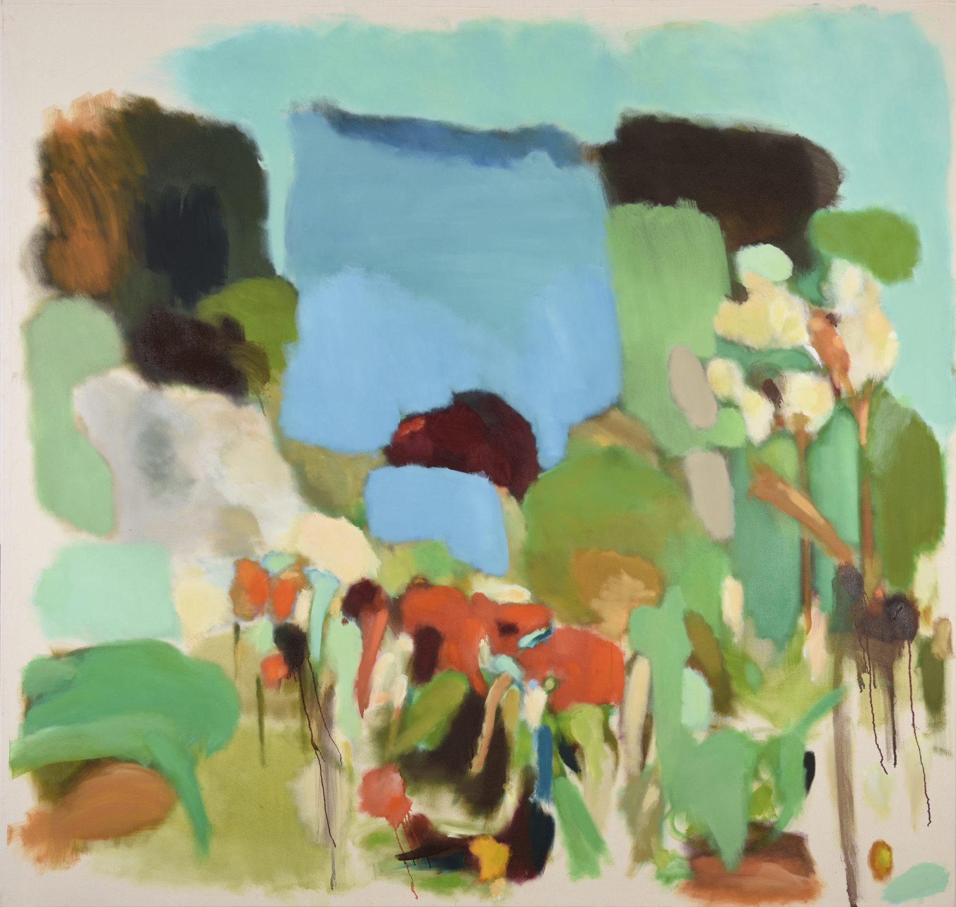 juliette sturlese painting triptych oil on canvas jungle peak district