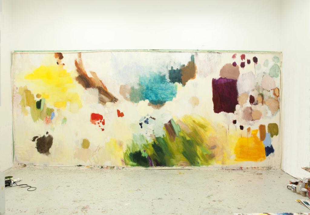 juliette sturlèse painting studio berlin on dirait le sud